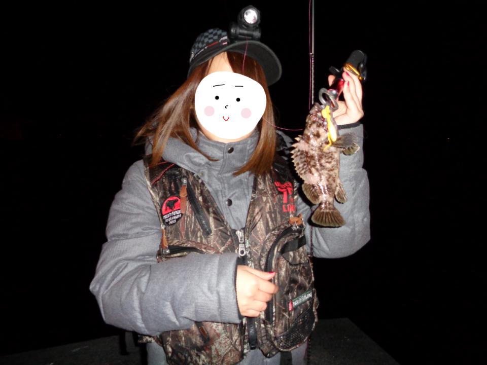 2017/11/29 小樽穴場→忍路でロック!彼女はハチガラを上げすっかり釣りガールに。